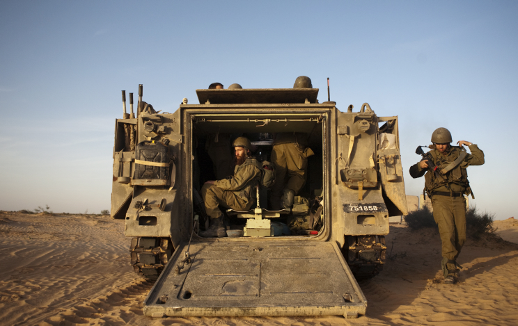 Israeli reserve soldiers during training in Noerthern Israel
